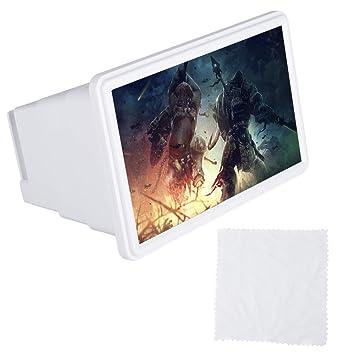Eboxer HD Pantalla del Teléfono Lupa Portátil Plegable 3X Zoom, Amplificador Óptico de Pantalla Titular del Teléfono para Interior, Acampar, Viajar, etc.