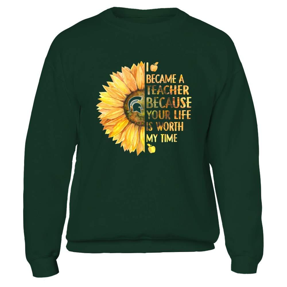 Teacher FanPrint Michigan State Spartans T-Shirt