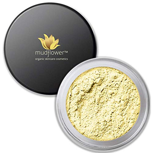 Mudflower Cosmetics Yellow Color Corrector Mineral Primer, Yellow, 1.0 ounce ()
