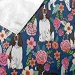 "NiYoung Beach Towel Large Beach Blanket Towel Ultra Soft Super Water Absorbent Multi-Purpose 32"" x 51"", English Springer Spaniel and Retro Floral 8"