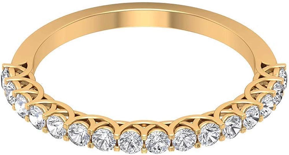 Anillo de boda de diamantes antiguos de 0,48 ct, declaración de eternidad para novia, anillo de oro con certificado SGL, único para mujer, 18K Oro
