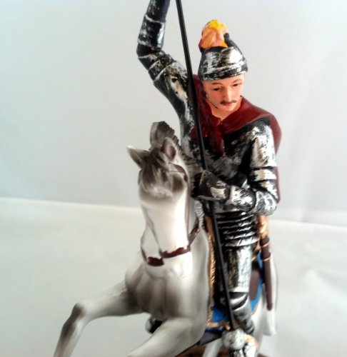 8.5 Inch Statue of Saint St George Slaying Dragon San Jorge Santo