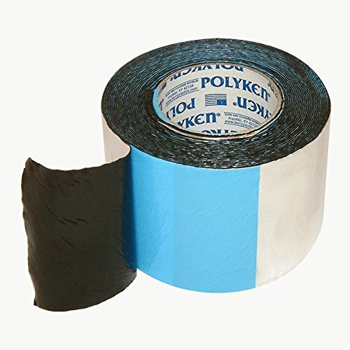 Polyken 360-45 Heavy Duty Foil/Butyl Rubber Tape, 45 mil Thick, 30' Length x 4