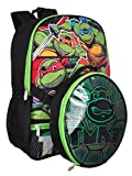 Nickelodeon Boys' Teenage Muant Ninja Turtles with Shaped Shell Lunch Kit Backpack, Black, One Size