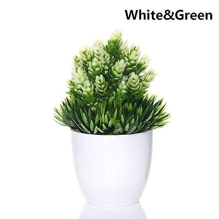 SHEDRWE 1 Juego de Mini simulación de Plantas de plástico Bonsai ...
