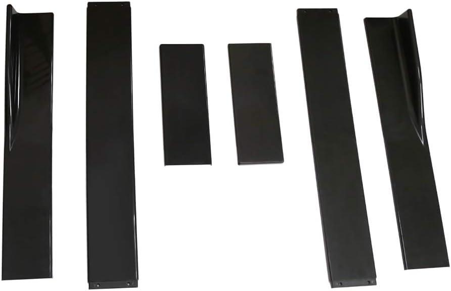 Auto Seitenschweller Extensions Rocker 2.2M Universal Splitters Diffusor Lips Seitenschweller Schwarz