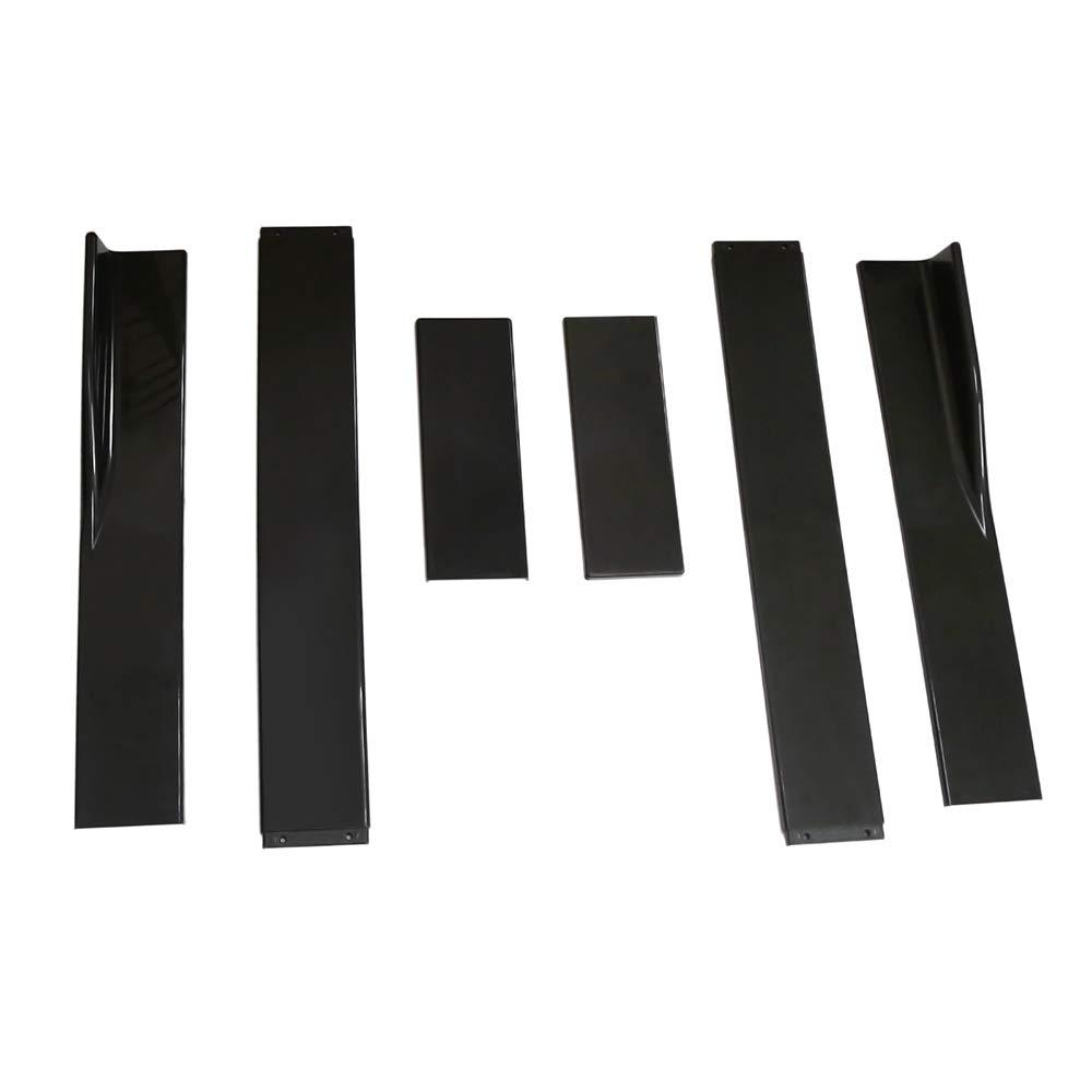 Extensiones de Falda lateral para Autom/óvil Rocker 2M Divisores Universales Difusor labios Falda lateral Estilo de Fibra de Carbono Tickas Extensi/ón de Falda lateral