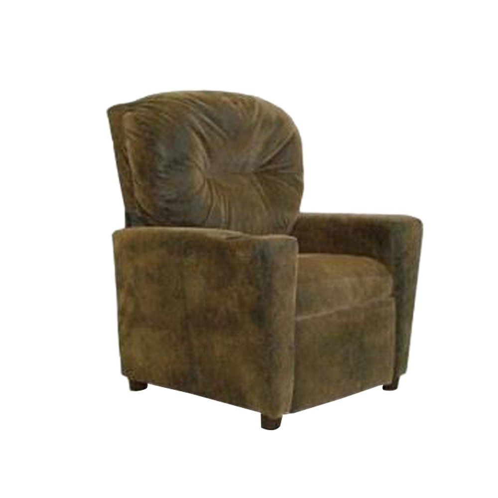 Dozydotes Child Recliner with Cup Holder Brown Bomber DZD9949