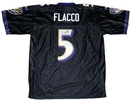low cost 5000e c7539 Amazon.com: Joe Flacco Signed Jersey - #5 Reebok Premier ...