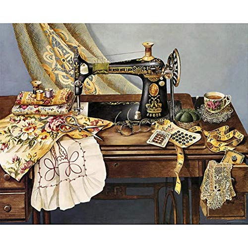 Alloet 5D DIY Full Drill Diamond Painting Sewing Machine Cross Stitch Mosaic - Diamond Machine Sewing