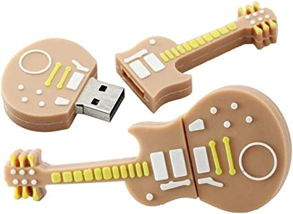 128GB Forma de la Guitarra Unidad Flash USB Disco Flash USB Disco USB Unidad de Memoria