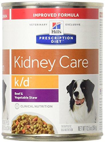Kidney Food Diet Canine (Hill's Prescription Diet k/d Canine Renal Health - Beef & Vegetable Stew - 12x12.5oz)