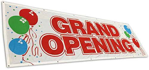 3x10 Ft Banner Flex/Vinyl Store Sign - Grand Opening]()