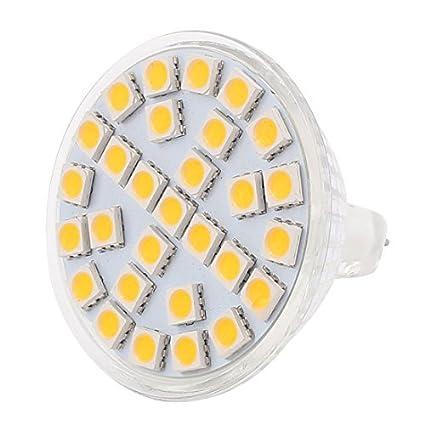 Bombilla eDealMax MR16 29LEDs SMD5050 5W de cristal lámpara ahorro de energía LED calienta 110V blanco