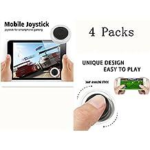 eLUUGIE 4 Packs Mobile Game Joystick Touch Screen Joypad Tablet Game Controller Joypad Joystick for Touchscreen Game Joystick iPhone 7 7 plus iPad Samsung HTC Touch Screen Joystick iphone (Black)