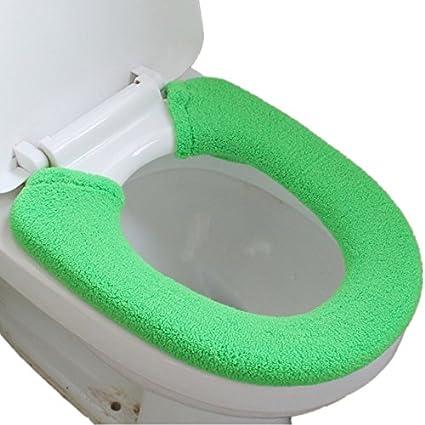 Excellent Vimeet Warm Toilet Seat Cover Washable Bathroom Closestool Pad Mat Green Creativecarmelina Interior Chair Design Creativecarmelinacom