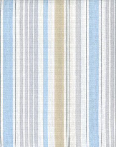 Laura Ashley Fabric Shower Curtain Somerset Stripe Light