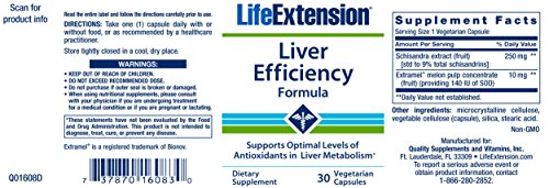 Life Extension Liver Efficiency Formula 30 Vegetarian Capsules by Life Extension (Image #2)