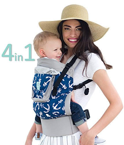 4in 1 Cargo - 4 in 1 ESSENTIALS Baby Carrier by LILLEbaby – Grey Anchors