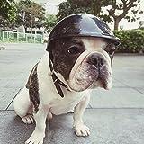 Doober Pet Dog Ridding Caps Helmet ABS Plastic Doggie Puppy Bike Motorcycle Cosplay Hat (S, Black)