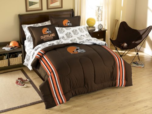 Cleveland Browns Twin Comforter and Shams - Cleveland Browns Comforter Set