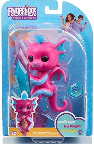 fingerling - Interactive Baby Dragon - Sandy (Pink with Blue)