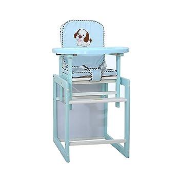Silla Alta de bebé para Comer, Asiento Elevador Multifuncional para niños para Mesa de Comedor, Mesa de Madera y Silla para niños (Color : Azul): Amazon.es: ...