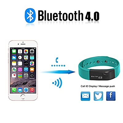 Fitness Tracker Smart Wristband, Shonco I5 Bluetooth Wireless Activity Fitness Tracker Smart Bracelet with Pedometer Tracking Health Sleep Monitoring for IOS7.0 and Android 4.3 above Phone - Blue
