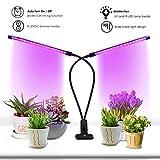 AY Timing Function Dual Head Grow Light Plant Light 18W LED Lights 3