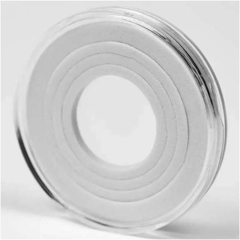A Pl/ástico Estuches para Monedas Caja Transparente Funda de Moneda Redondo Protectora in Caja Organizadora de Almacenamiento para Colecci/ón de Monedas
