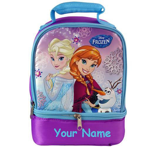 [Personalized Disney Frozen Anna and Elsa School Lunch Box Lunch Bag] (Disney Frozen Snowman)
