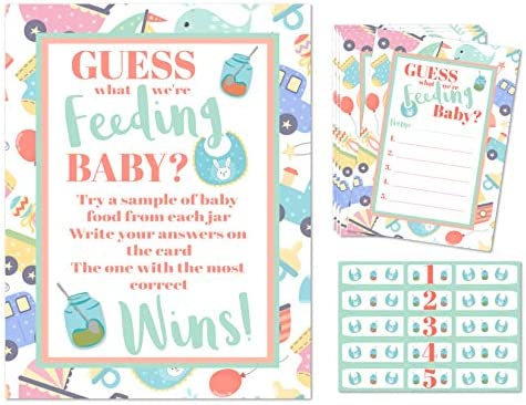 Guess the Baby Food Baby Shower  Packs of Player Cards /& Winners Certificate