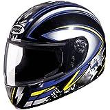 Studds Chrome Super D1 Helmet (Black N1, XL)