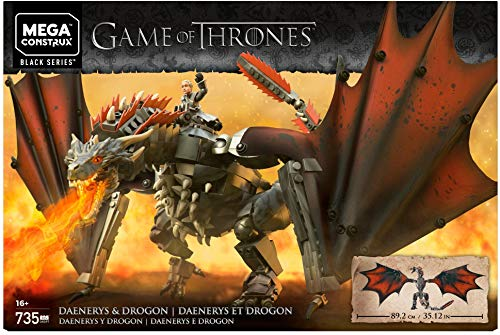 Game of Thrones: Daenerys and Drogon - Mega Construx (Game Thrones Dragon)