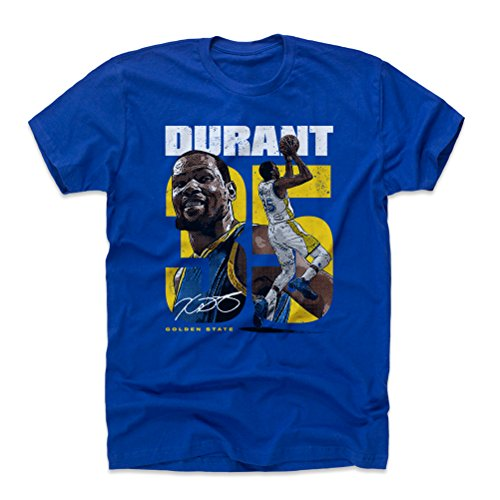 500 LEVEL Kevin Durant Cotton Shirt Large Royal Blue - Golden State Basketball Men's Apparel - Kevin Durant Collage Y (Golden State Warriors Custom Jersey)