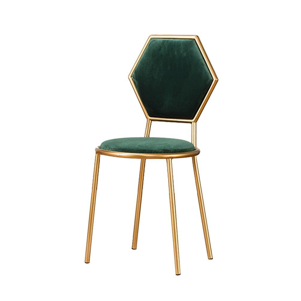 IAIZI 背もたれの椅子爪のスツールカフェの椅子飲料店の椅子レジャー鉄の椅子創造的な交渉テーブルと椅子 (色 : D) B07DJ7BYJBD
