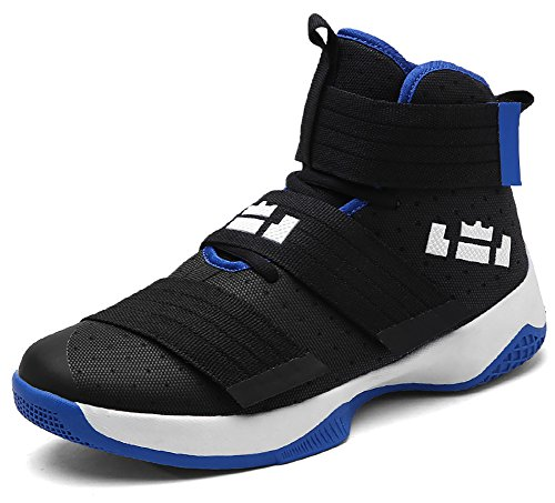 No.66 TOWN Women's Men's High Top Running Shoes Fashion Sneaker,Basketball Shoes Size Size 10/8.5 Black