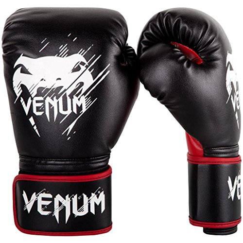 Venum Contender Kids Boxing Gloves - Black/Red - 6oz, 6 oz