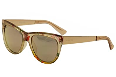 9ba58b739 Amazon.com: Gucci Sunglasses - 3739 / Frame: Beige Floral Gold Lens ...