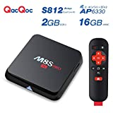 QacQoc M8S Pro Android Tv Box 2G/16G 5G/2.4G Dual Wifi Android 4.4 Amlogic S812 Kodi 16.0 All Preloaded Add-ons Emmc Quad Core AP6330 WIFI Module Streaming Media Player