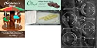 Cybrtrayd Holy Communion Lolly Chocolate Candy Mold with Chocolatier's Bundle, Includes 25 Sticks, 25 Cello Bags, 25 Gold Twist Ties and Chocolatier's Guide