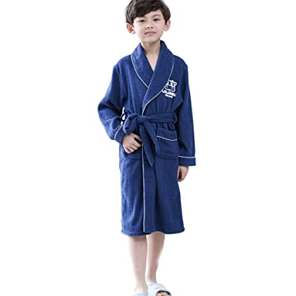 da74d2ea2 Meng Wei Shop Pijamas Dos Piezas Toalla de algodón para niños Albornoz  Absorbente camisón de algodón