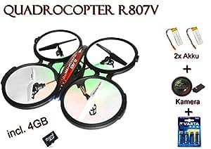 RC cuadricóptero Rayline R807V 2.4 GHz 4-channel Gyro Drohne