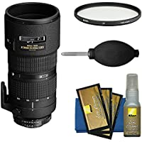 Nikon 80-200mm f/2.8D ED AF Zoom-Nikkor Lens with UV Filter + Kit for D3300, D5300, D5500, D7100, D7200, D610, D750, D810, D4s Cameras
