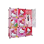 DIY Hello Kitty 9 Cubes Modern Wardrobe for Baby Kids Children