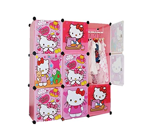 Hello Kitty 9 Cubes Modern Wardrobe