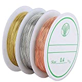 Navifoce Bare Copper Wire Tarnish Resistant Jewelry Wire