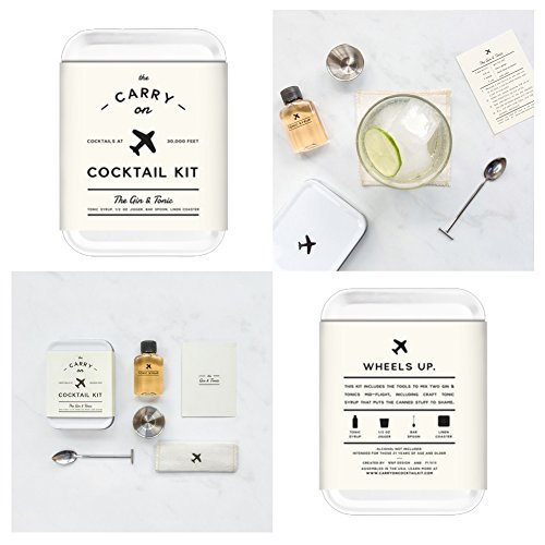 The Carry On Cocktail Kit Old Fashioned, Moscow Mule, Gin and Tonic, Bloody Mary, Hot Toddy, Champagne Cocktail - 6 Pack Carry On Cocktail Kit Holiday Set, Six Carry On Cocktail Kits Makes 12 Drinks by Sawdust + Oil (Image #4)