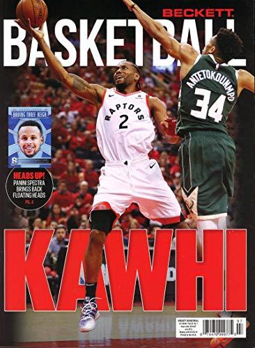 Beckett Basketball Monthly Price Guide Card Magazine July 2019 NBA Finals Kawhi Leonard