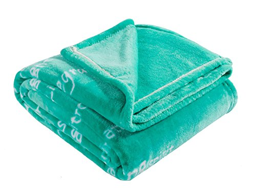 BlankieGram Healing Thoughts Blanket (Teal) (Chemo Gift Basket)